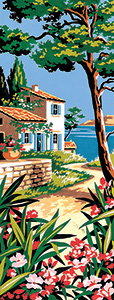 SEG de Paris Needlepoint - Villa by the Sea