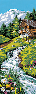 SEG de Paris Needlepoint - Mountain Stream