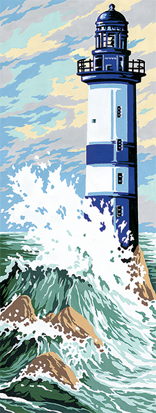 SEG de Paris Needlepoint - Small Needlepoint Canvases - Lighthouse in a Storm