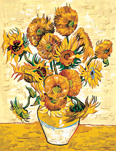 SEG de Paris Needlepoint Sunflowers by Van Gogh Canvas