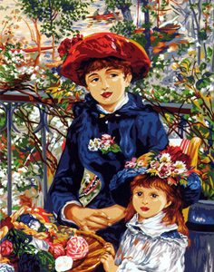 SEG de Paris Needlepoint - Two Sisters (On the Terrace) Pierre-Auguste Renoir