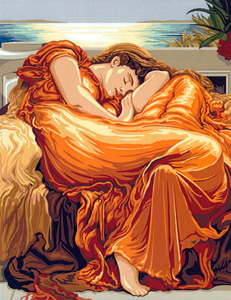 SEG de Paris Needlepoint Flaming June (d'apres F. Leighton) Canvas