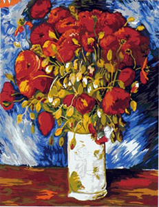 SEG de Paris Needlepoint - Poppies by Van Gogh