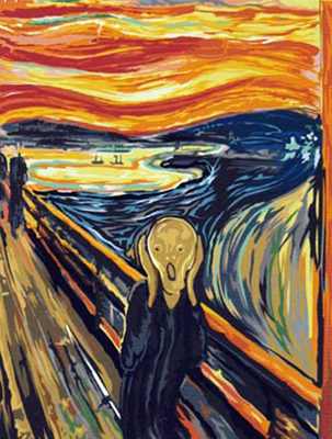 SEG de Paris Needlepoint - The Scream By Edvard Munch