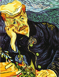 SEG de Paris Needlepoint - Paul Gachet by Van Gogh
