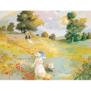 SEG de Paris Needlepoint - Promenade Champetre (Pastoral Walk) Canvas