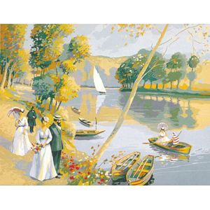 "SEG de Paris Needlepoint - La Belle Epoque (""The Good Times"" or ""The Beautiful Era"") Canvas"