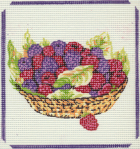 Bowl of Berries - Collection d'Art Needlepoint Canvas
