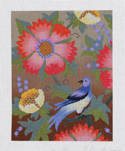 Paravel Garden Hand Painted Needlepoint Canvas from Abigail Cecile