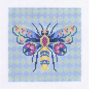 Garden Bee 2 Hand Painted Needlepoint Canvas from Abigail Cecile