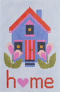 Home Hand Painted Needlepoint Canvas from Abigail Cecile