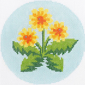 Dandelions Ornament Hand Painted Needlepoint Canvas from Abigail Cecile