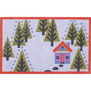Woodland Home Spring Hand Painted Needlepoint Canvas from Abigail Cecile