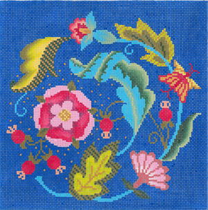 Florentine Flourish Hand Painted Needlepoint Canvas from Abigail Cecile