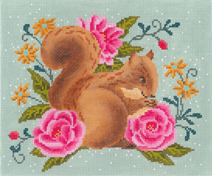 English Garden Hand Painted Needlepoint Canvas from Abigail Cecile