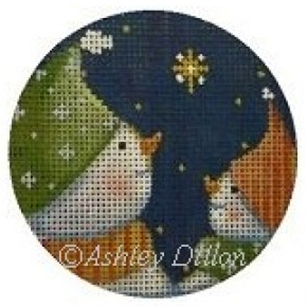 Star Wish Snowmen Hand-painted Christmas Ornament Canvas from Ashley Dillon