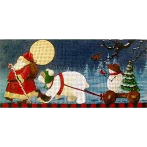 Christmas March Hand Painted Needlepoint Canvas by Ashley Dillon