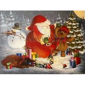 Christmas Dance Hand Painted Needlepoint Canvas by Ashley Dillon