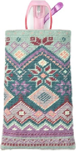 Fair Isle Needlepoint Glasses Case Kit from Appletons