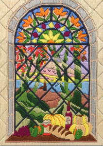 Autumn Through the Window Needlepoint Kit from Anchor (Long Stitch)