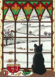 Winter Through the Window Needlepoint Kit from Anchor (Long Stitch)
