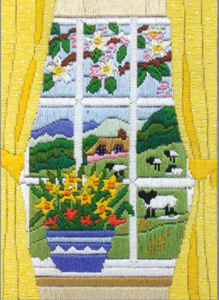Spring Through the Window Needlepoint Kit from Anchor (Long Stitch)