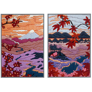 Serenity & Tranquility (Set of 2 designs) Needlepoint Kit from Anchor  (Long Stitch)