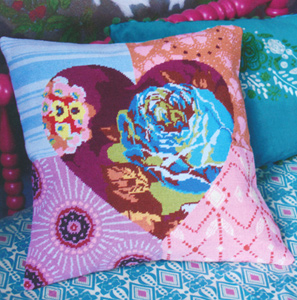 Heartbeat Needlepoint Cushion Kit from the Anchor Living Collection