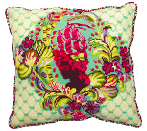 Parisville Sky Needlepoint Cushion Kit from the Anchor Living Collection