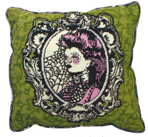 Nightshade Absynth Needlepoint Cushion Kit from the Anchor Living Collection