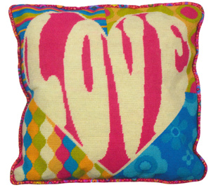 Funky Love Needlepoint Cushion Kit from the Anchor Living Collection