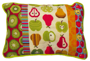 Funky Fruits Needlepoint Cushion Kit from the Anchor Living Collection
