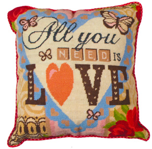 All You Need Is Love Needlepoint Cushion Kit from the Anchor Living Collection