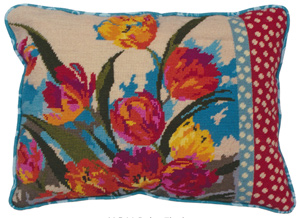Ruby Flush by Nel Needlepoint Cushion Kit from the Anchor Living Collection