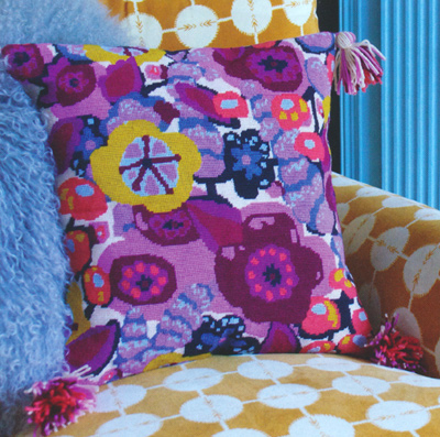 First Impression Needlepoint Cushion Kit from the Anchor Living Collection