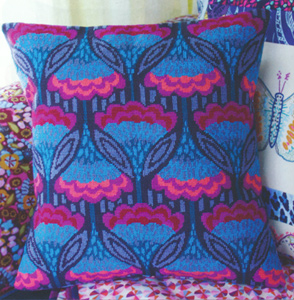Fanfare Needlepoint Cushion Kit from the Anchor Living Collection