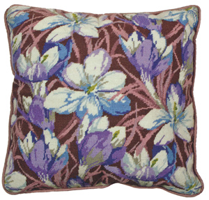 Crocus Needlepoint Cushion Kit from the Anchor Living Collection