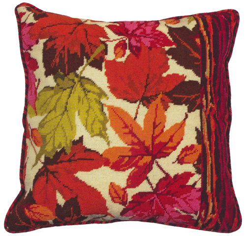 Fall Leaves Needlepoint Cushion Kit from the Anchor Living Collection