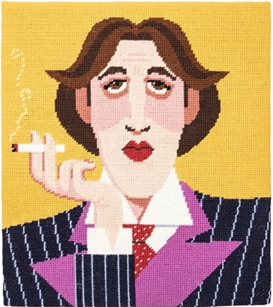 Oscar Wilde Needlepoint Kit from Appletons