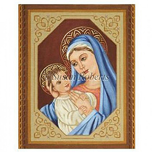 Madonna and Child - From Tapestry Tent by Liz Goodrick-Dillon