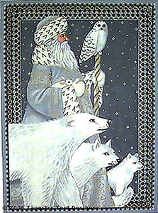 Arctic Santa Needlepoint Cushion/Picture