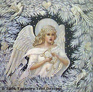 Enchanted Angel Needlepoint Cushion/Picture