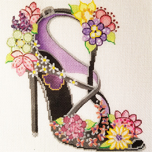 Ann Scott Designs - The Slipper Hand Painted Needlepoint Canvas