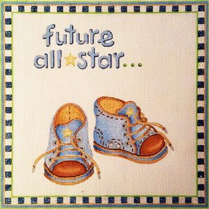 Ann Scott Designs - Future All-Star (Boy) Hand Painted Needlepoint Canvas