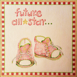 Ann Scott Designs - Future All-Star (Girl) Hand Painted Needlepoint Canvas