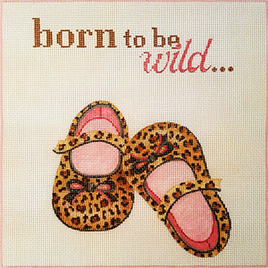 Ann Scott Designs - Born to be Wild Hand Painted Needlepoint Canvas