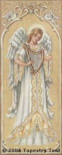 Ivory Angel Needlepoint Picture/Cushion