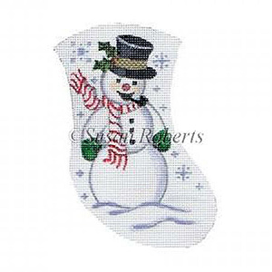 Snowman Needlepoint Mini Stocking