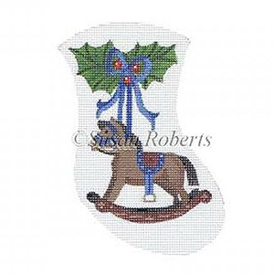 Rocking Horse Needlepoint Mini Stocking