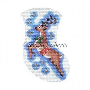 Prancer Needlepoint Mini Stocking
